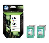 HP 343 2-pack Tri-color Inkjet Print Cartridges