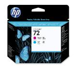 HP 72 Magenta and Cyan Printhead