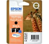 Epson T0711 High Capacity Black Ink Cartridge Twin Pack - Retail Pack (untagged)