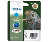 Epson T0792 Cyan Ink Cartridge - Retail Pack (untagged) for Stylus Photo 1400, Epson Stylus Photo P50