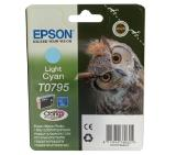 Epson T0795 Light Cyan Ink Cartridge - Retail Pack (untagged) for Stylus Photo 1400, Epson Stylus Photo P50