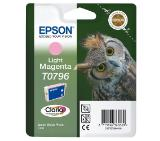 Epson T0796 Light Magenta Ink Cartridge - Retail Pack (untagged) for Stylus Photo 1400, Epson Stylus Photo P50