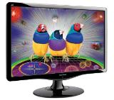 "ViewSonic VA2232w, 22"", 16:10, LED, 1680x1050, 5ms, 10.000,000:1 DCR, 250 cd/m2, Analogue / DVI, TCO"