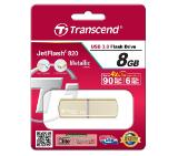 Transcend 8GB JETFLASH 820, USB 3.0, Gold