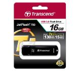 Transcend 16GB JETFLASH 750, USB 3.0, black