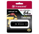 Transcend 64GB JETFLASH 750, USB 3.0, black
