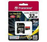Transcend 32GB micro SDHC UHS-I, MLC, 600x (with adapter, Class 10)