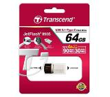 Transcend 64GB JETFLASH 890S, USB 3.1 Type C, Silver Plating