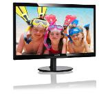"Philips 246V5LSB, 24"" Wide TN LED, 5ms, 10M:1 DCR, 250 cd/m2, 1920x1080 FullHD, DVI, Black"
