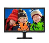 "Philips 243V5LHAB, 23.6"" Wide TN LED, 1 ms, 10M:1 DCR, 250 cd/m2, 1920x1080 FullHD, DVI, HDMI, Speakers, Black"