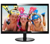 "Philips 246V5LHAB, 24"" Wide TN LED, 1 ms, 1000:1, 10М:1 DCR, 250 cd/m2, FHD 1920x1080@60Hz, D-Sub, HDMI, Headphone Out, Speakers, Black"
