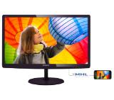 "Philips 227E6EDSD, 21.5"" Wide ADS-IPS LED, 5 ms, 20M:1 DCR, 250 cd/m2, 1920x1080 FullHD, DVI, HDMI, Black"