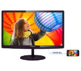 "Philips 247E6QDAD, 23.6"" Wide ADS-IPS LED, 5 ms, 20M:1 DCR, 250 cd/m2, 1920x1080 FullHD, DVI, HDMI, Speaker, Black"