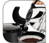 Tefal CM360812, Subito 3, 10/15 cups, black/ss