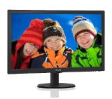 "Philips 243V5LSB5, 23.6"" Wide TN LED, 5 ms, 10M:1 DCR, 250 cd/m2, 1920x1080 FullHD, D-Sub, DVI, Black"