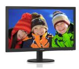 "Philips 243V5LHSB5, 23.6"" Wide TN LED, 5 ms, 10M:1 DCR, 250 cd/m2, 1920x1080 FullHD, D-Sub, DVI, HDMI, Black"