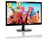 "Philips 246V5LDSB, 24"" Wide TN LED, 1 ms, 1000:1, 10М:1 DCR, 250 cd/m2, FHD 1920x1080@60Hz, Flicker-Free, D-Sub, DVI, HDMI, Black"