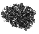 Lanberg cable clips 5mm 100pcs, black