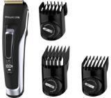 Rowenta TN5240F0 Hair trimmer Advancer, hair & beard, washable blades, self-sharpening stainless steel blades, 120min autonomy, lithium - ion, full charging 1h30min, micro precision beard comb, cordless + corded, pouch, cleaning brush & oil