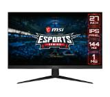 "MSI Optix G271, 27"", IPS, 1ms, 144Hz, FHD 1920x1080, FLAT, AG, 92% DCI-P3, Wide Color Gamut, FreeSync, Anti-Flicker, Less Blue Light, Night Vision, 250 cd/m2, Contrast 1000:1, DCR 100M:1, 2 x HDMI, DP, 1x Earphone out , Tilt, VESA100, Frameless"