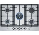 Bosch PCR7A5M90, Serie 6, Gas hob, 5 zones, FlameSelect, 75 cm, Stainless steel,